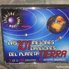 CDs de Música: LAS 101 MEJORES CANCIONES DEL PLANETA TIERRA - CRONICAS MARCIANAS 5 CDS. Lote 128337747