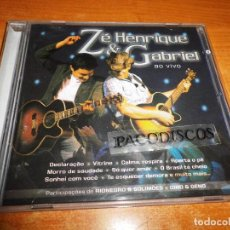 CDs de Música: ZE HENRIQUE & GABRIEL AO VIVO CD ALBUM AÑO 2007 DUO RIONEGRO E SOLIMOES GINO E GENO 15 TEMAS BRASIL. Lote 128381547