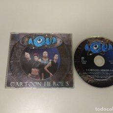 CDs de Música: 1018- AQUA CARTOON HEROES CD DANCE SINGLE PROMO DINAMARCA 1999 ENVIO ECONOMICO. Lote 128438071