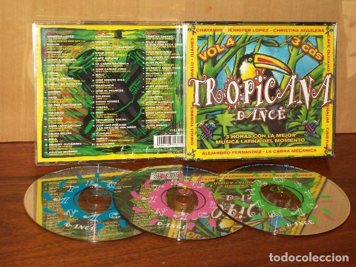 TROPICANA DANCE - TRIP`LE CD VOLUMEN 4 - ARTISTAS VARIOS ORIGINALES (Música - CD's Disco y Dance)