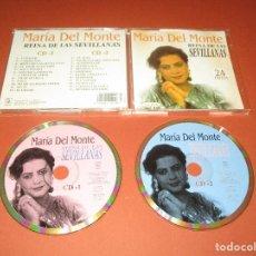 CDs de Música: MARIA DEL MONTE ( REINA DE LAS SEVILLANAS ) - 2 CD - CD-02.006 - HORUS - 24 EXITOS. Lote 128479207