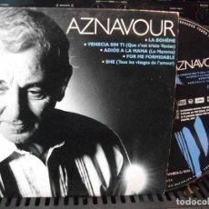 CDs de Música: AZNAVOUR CD SINGLE 5 TEMAS PROMOCIONAL. Lote 128486627