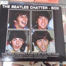 CDs de Música: CD ( THE BEATLES CHATTER - BOX ) 2003 CHROME DREAMS 3 CDS + POSTER EXCLUSIVO. Lote 94249855