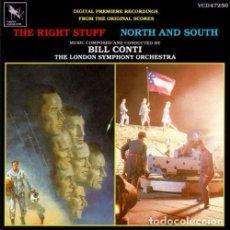 CDs de Música: RIGHT STUFF + NORTH AND SOUTH / BILL CONTI CD BSO. Lote 295879308