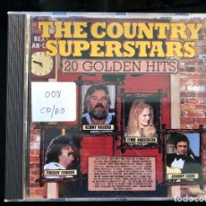 CDs de Música: THE COUNTRY SUPERSTARS 20 GOLDEN HITS. Lote 128570459