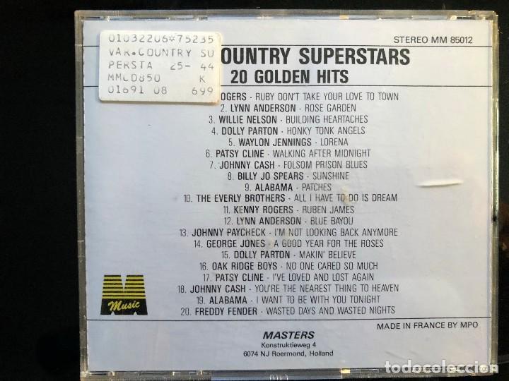 CDs de Música: THE COUNTRY SUPERSTARS 20 GOLDEN HITS - Foto 2 - 128570459
