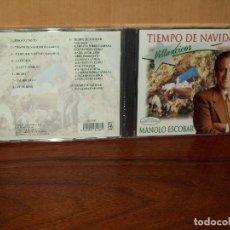 CDs de Música: MANOLO ESCOBAR - TIEMPO DE NAVIDAD - VILLANCICOS - CD NUEVO PRECINTADO. Lote 128631011