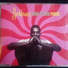 CDs de Música: HADDAWAY: WHAT IS LOVE REMIX, CD MAXI COCONUT RECORDS 74321 13966 2. GERMANY, 1993.. Lote 128654123