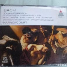 CDs de Música: BACH JOHANNES PASSION HARNONCOURT 2 CD TELDEG. Lote 128677787