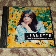 CDs de Música: JEANETTE - PIC-NIC - TEMA INEDITO Y PRUEBAS DE ESTUDIO. Lote 128679740