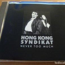 CDs de Música: RAR CD. HONG KONG SYNDIKAT. NEVER TOO MUCH. TELDEC. 1986. Lote 128680091