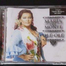 CDs de Música: MARIA DEL MONTE (OLE-OLE) CD 2004 - SALVE ROCIERA DEL OLE. Lote 128696507