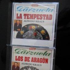 CDs de Música: DE ZARZUELA LOS DE ARAGON Y LA TEMPESTAD DE ALFREDO KRAUS. Lote 128697611