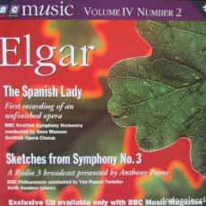 CDs de Música: ELGAR - THE SPANISH LADY - SKETCHES FROM SYMPHONY Nº 3 - CD SLIM. Lote 128698051