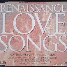 CDs de Música: RENAISSANCE LOVE SONGS - 24 CANCIONES DEL RENACIMIENTO CON CATHERINE BOTT (SOPRANO) CD SLIM. Lote 128698639