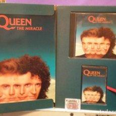 CDs de Música: QUEEN - THE MIRACLE - BOX SET PROMOCIONAL CON CD, CASSETTE Y UN LIBRETO. Lote 128698955