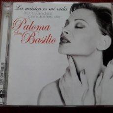 CDs de Música: PALOMA SAN BASILIO CD DOBLE LA MUSICA ES MI VIDA 30 GRANDES CANCIONES INEDITAS. Lote 128704619