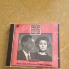 CDs de Música: MARÍA TERESA DE NORONHA, VICENTE DA CÁMARA. O MELHOR DOS MELHORES (CD). Lote 128707315
