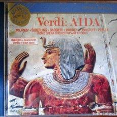 CDs de Música: AIDA (HIGHLIGHTS) ZINKA MILANOV, JUSSI BJOERLING, FEDORA BARBIERI, LEONARD WARREN, BORIS CHRISTOFF.. Lote 128880483