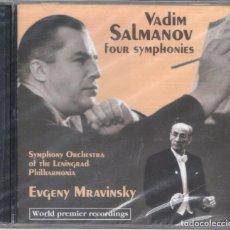CDs de Música: VADIM SALMANOV: 4 SINFONÍAS. MRAVINSKY. 2CDS NUEVO RETRACTILADO. Lote 128948323