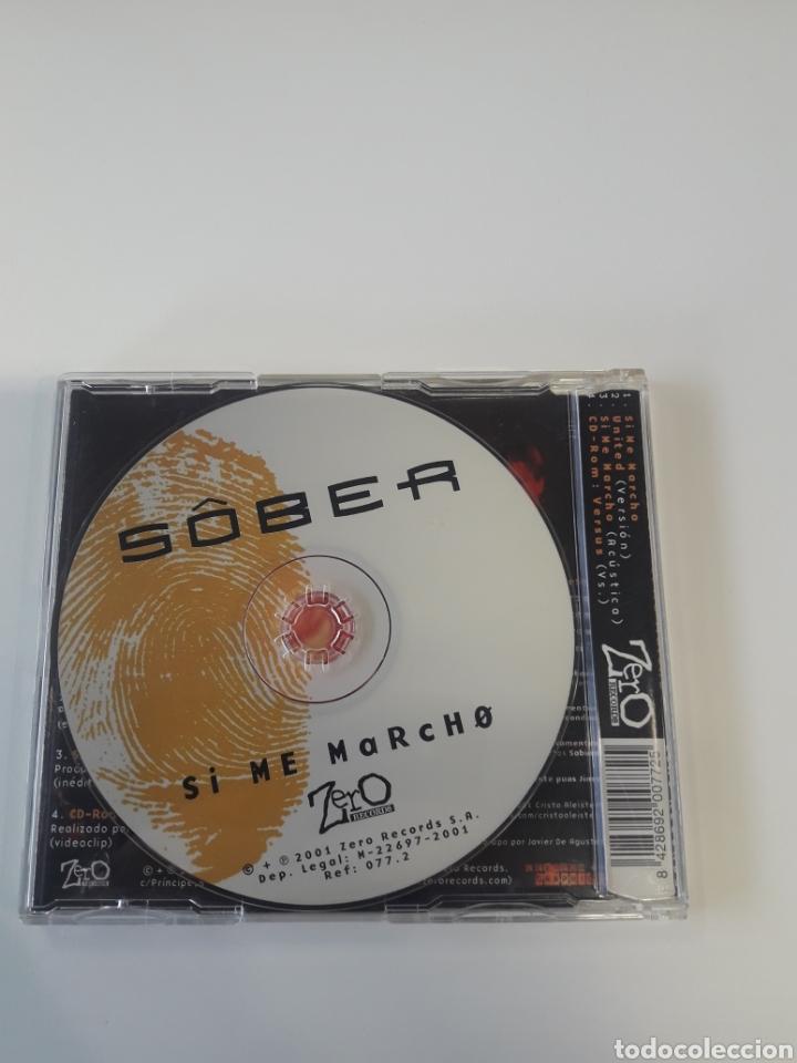 CDs de Música: Sôber - Si me marcho CD maxi - Foto 3 - 128978175