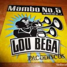 CD de Música: LOU BEGA MAMBO Nº 5 ( A LITTLE BIT OF...) CD SINGLE CARTON DEL AÑO 1999 EU CONTIENE 2 TEMAS. Lote 129060299