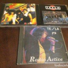 CDs de Música: TESLA 3 CD - LIVE - MECHANICAL RESONANCE - GREAT RADIO - RADIO ACTIVE - METAL MEMORY - DOKKEN. Lote 129062255
