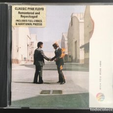 CDs de Música: PINK FLOYD WISH YOU WERE HERE CD REISSUE, REMASTERED US 1994. Lote 129173907