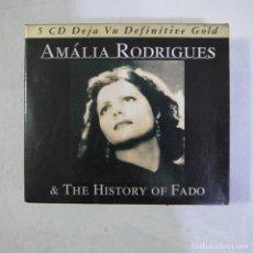 CDs de Música: AMALIA RODRIGUES & THE HISTORY OF FADO - 5 CDS DEJA VU DEFINITIVE GOLD - 2006. Lote 129204667