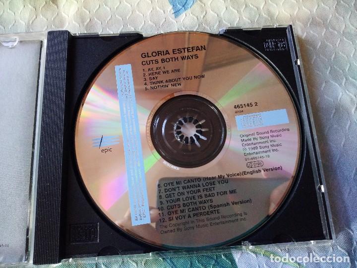 CDs de Música: GLORIA ESTEFAN Cuts both ways CD ALBUM DEL AÑO 1989 AUSTRIA Oye mi canto CONTIENE 12 TEMAS - Foto 2 - 129316247