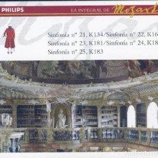 CDs de Música: MOZART: SINFONIAS Nº 21 - 25. Lote 129501835