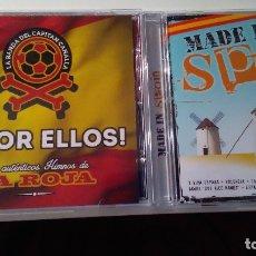 CDs de Música: 2 CDS: !A POR ELLOS! LOS AUTENTICOS HIMNOS DE LA ROJA + !MADE IN SPAIN!. Lote 73575067