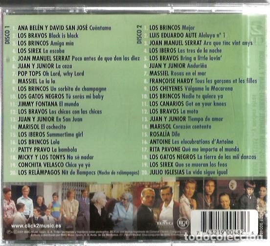 CDs de Música: DOBLE CD CUENTAME (MARISOL, LOS BRINCOS, LOS IBEROS, SERRAT, GATOS NEGROS, LOS BRAVOS, LOS CANARIOS - Foto 2 - 129658483