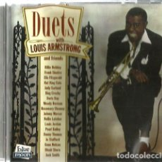 CDs de Música: CD DUETS WITH LOUIS ARMSTRONG AND FRIENDS ( BILLIE HOLIDAY, ELLA FITZGERALD, BING CROSBY, ETC ). Lote 129663483