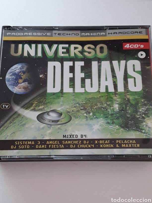 UNIVERSO DEEJAYS / 4CDS / PROGRESSIVE , TECHNO , MAKINA Y HARDCORE / AÑO 2001 (Música - CD's Techno)