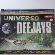 CDs de Música: UNIVERSO DEEJAYS / 4CDS / PROGRESSIVE , TECHNO , MAKINA Y HARDCORE / AÑO 2001. Lote 129960330
