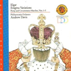 CDs de Música: EDWART ELGAR - ENIGMA VARIATIONS - DIRIGE: ANDREW DAVIS - CD ALBUM - 20 TRACKS - CBS RECORDS 1988. Lote 129966507