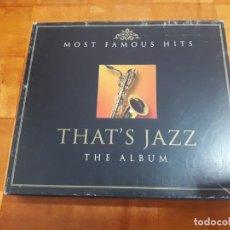 CDs de Música: ALL THAT'S JAZZ. Lote 130055711
