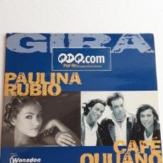 CDs de Música: CD SINGLE PROMOCIONAL / PAULINA RUBIO Y CAFÉ QUIJANO EN CONCIERTO AÑO 2011 / 4 TEMAS / FUNDA CARTON. Lote 130227910