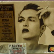 CDs de Música: THE LEGENDARY TIGERMAN - FEMINA - CD + DVD DIGIPACK PRECINTADO. Lote 130337382