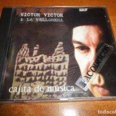 CDs de Música: VICTOR VICTOR & LA VELLONERA CAJITA DE MUSICA CD ALBUM DEL AÑO 1997 CONTIENE 13 TEMAS BACHATA SALSA. Lote 130353334