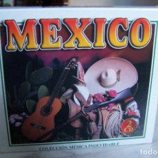 CDs de Música: MÉXICO. 2 CD. COLECCIÓN MÚSICA INOLVIDABLE. LAS MEJORES RANCHERAS Y VIVA MÉXICO. 32 TEMAS.. Lote 130407778