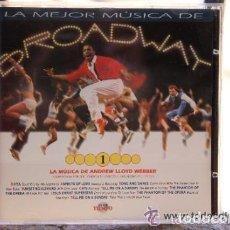 CDs de Música: LA MEJOR MUSICA DE BROADWAY (Nº 1) CD CLU TIEMPO 1995. Lote 130507506