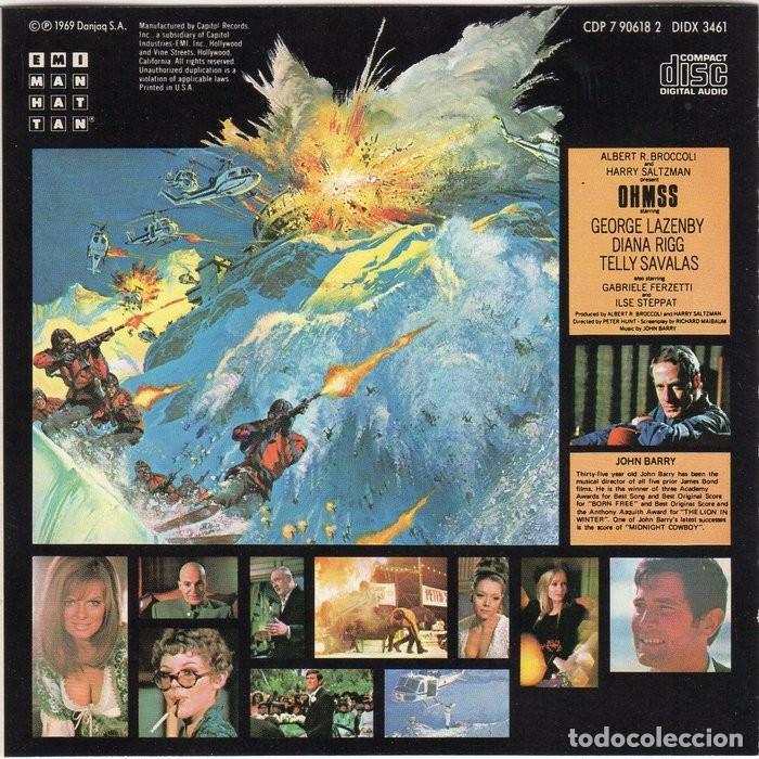 CDs de Música: 007 AL SERVICIO SECRETO DE SU MAJESTAD. JOHN BARRY. BSO-CD - Foto 2 - 130559874