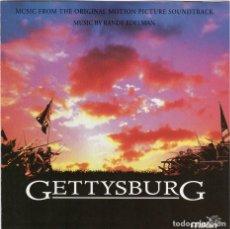 CDs de Música: GETTYSBURG. RANDY EDELMAN. BANDA SONORA ORIGINAL-CD. Lote 145759274