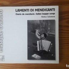CDs de Música: LAMENTI DI MENDICANTI - MATTEO SALVATORE (HARMONIA MUNDI, 1973, 2005). Lote 130588834