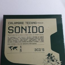 CDs de Música: CALAMBRE TECHNO PRODUCE: SONIDO / CAJA CON 3 CD'S. Lote 130655369