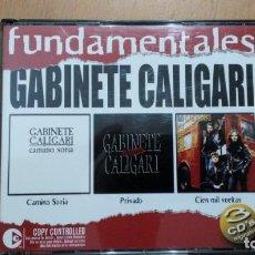 CDs de Música: GABINETE CALIGARI - FUNDAMENTALES - CD TRIPLE EMI 2004 - CAMINO SORIA, PRIVADO .... Lote 130735644