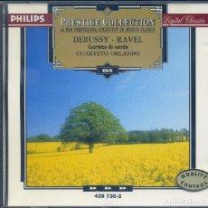 CDs de Música: DEBUSSY - RAVEL: CUARTETOS PARA PIANO. Lote 130772884