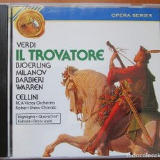 CDs de Música: IL TROVATORE (HIGHLIGHTS) JUSSI BJÖERLING, ZINKA MILANOV, FEDORA BARBIERI. CD IMPECABLE. Lote 130814680